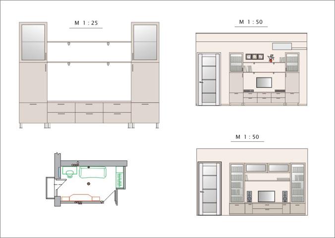 Эскиз однокомнатной квартиры - Чертежи - Мои работы My test site.